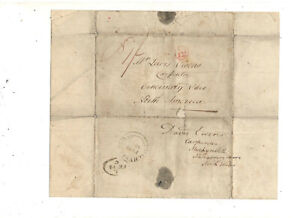 1846 STAMPLESS FOLDED LETTER, TO CINCINNATI OH, REF: DEATH OF FATHER
