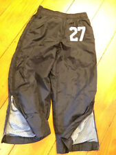 Old Navy Boys XS Black elastic waist lined zip at bottom of legs Drawstring