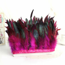 Hackle Rooster Feather Fringe trim 1/5/10 yard Craft /Sewing/Costume 10-15cm