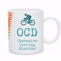 Bicycle Cyclist Tea Coffee Mug Cup OCD Obsessive Cycling Disorder Gift Idea