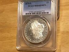 1878 S PCGS MS64 DMPL Morgan Silver Dollar Sell at WHOLESALE!!!  FREE SHIPPING!