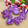 1PC Natural Aura Angel Crystal Cluster Purple Titanium Quartz Healing Home Decor
