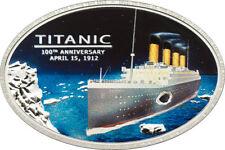Titanic 1912 , 5$, Silber, Cook Islands, 100 th  Anniversary, mit original Kohle