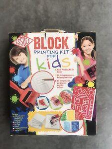 Essdee Block Printing For Kids Craft Kit Foam, Roller, Tray Engraving Tool & Ink