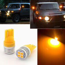 2pcs Bright Amber LED Side Mirror Lights Bulbs Fit for 2007-14 Toyota FJ Cruiser