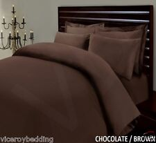 Pair of Chocolate Brown Egyptian Cotton 400 Thread Count Housewife Pillow Cases