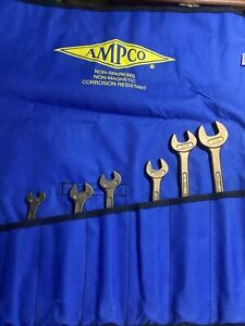 ampco non-sparking 7 pc. combination wrench set alum/brz finish