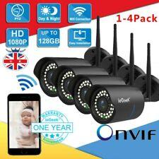 ieGeek WiFi Camera 1080P HD Home Surveillance Bullet IP Camera Outdoor -Black UK