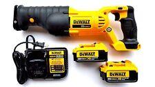 Dewalt DCS380 20V Reciprocating Saw, (2 DCB204 4.0 AH Batteries, Charger 20 volt