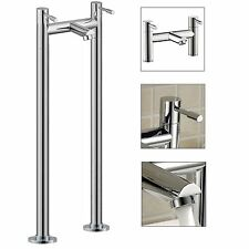 BLOSSOM FREESTANDING BATH FILLER MIXER PIPE LEGS CHROME MODERN BATHROOM TAP