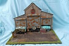 1/18 SCALE Weathered Junkyard Custom Chop Shop Garage Diorama Base Lighted