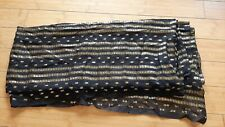 New Sari Saree Black Sheer with Metallic Gold Thread Design