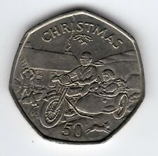 More details for 1988 50p tt coin iom christmas motorcycle sidecar ba isle man fifty pence iom213