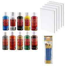 Craft Smart Acrylic Paint Set Tubes 10 Tubes Colors with Canvas Panels, Brushes