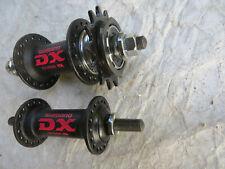 SHIMANO MX DX BLACK HUBS 36 HOLE  BMX  RACE RACING SCHWINN  BICYCLE VINTAGE