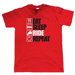 Massive Stock Clearance, Eat Sleep Ride Repeat Biker, Mens T Shirt