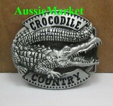 1 x mens ladies belt buckle metal alloy crocodile country jeans christmas gift