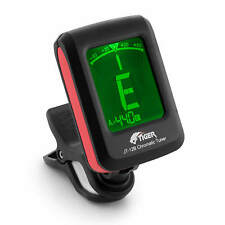 More details for tiger clip on chromatic guitar tuner - electric, acoustic,  bass & ukulele