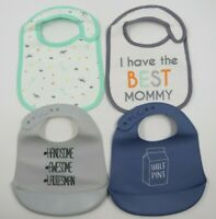 Carter's HB Baby Toddler Feeding Cloth & Silicone Bibs Lot 4 NEW