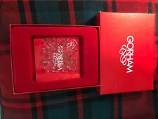 Gorham crystal snowflake holiday ornament