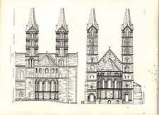 Cattedrale Gotica Bamberga PROSPETTI DI CORI orientali e occidentali