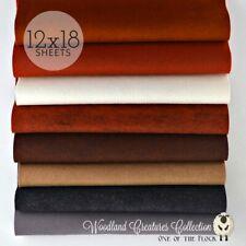 "Woodland Creatures Felt Collection, Merino Wool Blend Felt, 8- 12"" x 18"" Sheets"
