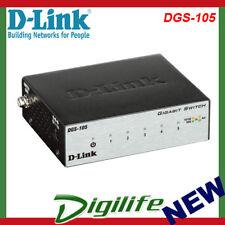 D-Link DGS-105 5-Port Gigabit Desktop Switch (Metal Housing)