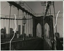30x24cm Vintage Foto 1981 New York NYC Brooklyn Bridge Twin Tower photo