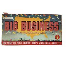 Big Business Transogram's Vintage Board Game 1954