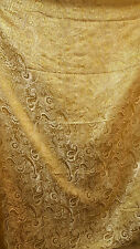 "3M GOLD COLOUR PAISLEY METALLIC BROCADE  FABRIC 58"" WIDE cheapest"