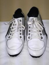 PUMA MEN URBAN MOBILITY WHITE/GRAY/BLACK TENNIS SHOES SIZE US 8 PRE-OWNED