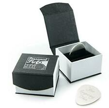 Personalised Silver Guitar Plectrum / Pick with Luxury Magnetic Presentation Box