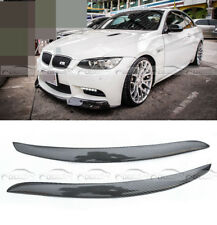 Carbon Fiber Glossy Headlight Eyelid Eyebrow For BMW M3 E92 E93 328 335 07-12