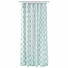 Ikea INGEBORG Light Blue Turquois Polyster Shower Curtain for Bathroom Bathtub