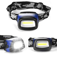 Headlight COB LED Ultra Bright Head Torch Mechanics Camping Fishing Flashlight