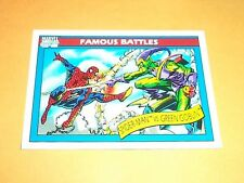 Spider-Man vs Green Goblin  # 110 1990 Marvel Universe Series 1 Trading Card