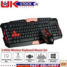 Wireless 2.4G Gaming Keyboard + Mouse Set For Multimedia Gamer Computer Laptop
