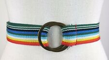 "Rainbow Multi Colors Fabric Belt Sz 16 46"" Long NWOT Gay Pride"