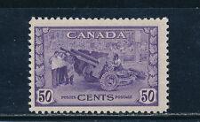Canada #261 mint, 50 cent artillary, CV $50