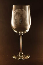 Etched Black Labrador Ret. on Elegant White Wine Glasses - Set of 2