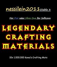 Diablo 3 Ros Ps4/Xbox One - Crafting Mats - 10 x 1.000.000 Mats - Softcore