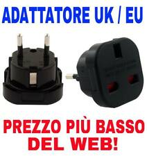 ADATTATORE SPINA PRESA DA UK INGLESE REGNO UNITO A EUROPA EU ADAPTER PLUG POWER