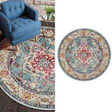 Ethnic Area Rug Round Floral Carpet Monaco Floor Mat Soft Antislip Bedroom Home