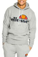 ellesse Mens Cotton Overhead Gottero Hooded Sweatshirt Top Athletic Grey Hoodie