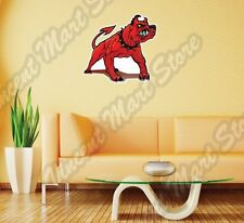 Scary Evil Devil Red Hell Dog Beast Hound Wall Sticker Room Interior Decor25X22""