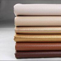 Brown Skai Imitation leather fabric fabric and haberdashery black lining Width 140 cm x 50 cm