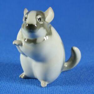 Chinchilla Lomonosov Porcelain Figurine Russia USSR LFZ