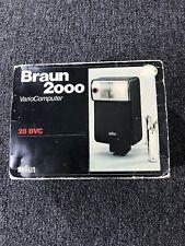 Vintage NOS BRAUN 2000 VARIO COMPUTER 28 BVC FLASH CAMERA ATTACHMENT GERMANY EC