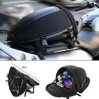 WR_ Motorcycle Bike Rear Trunk Waterproof Back Seat Carry Luggage Tail Bag Saddl