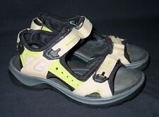 Boys ECCO Strappy Sandals Size 36 Tan Green Child Size 3.5 US